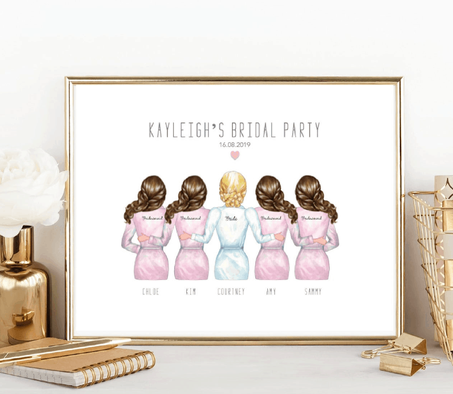 hen party gift print