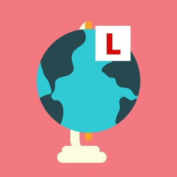 globe with l plates