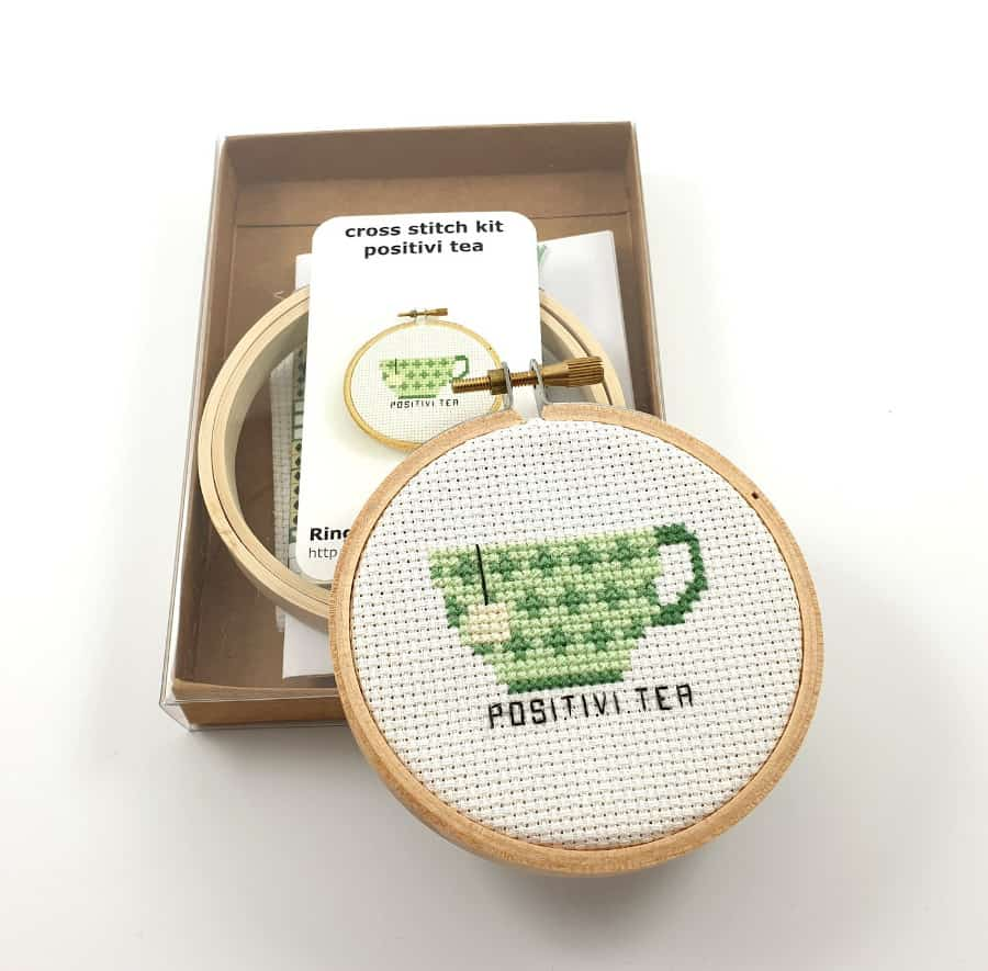 cross stich kit of teacup