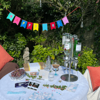 garden table decorated for a party