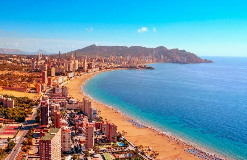 benidorm beach view