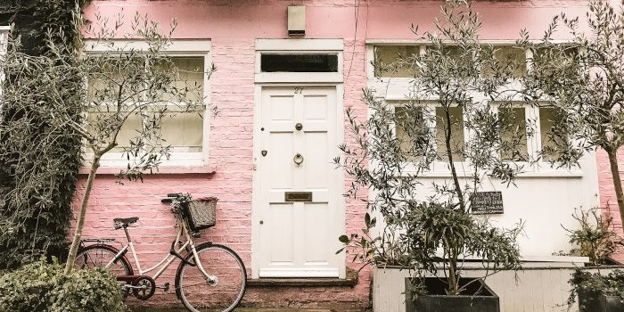 image of pretty pink house