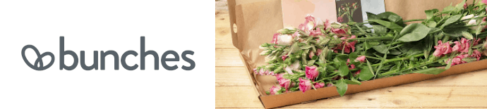 bunches logo and flower box