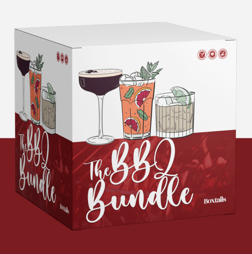 box containing bbq cocktails